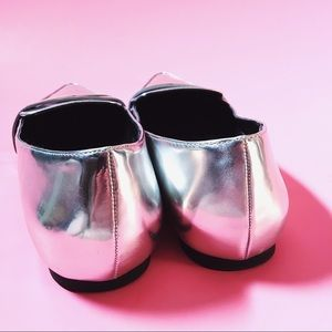 Forever 21 Shoes - Silver Metallic Loafers